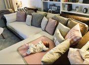 Schöne braune Couch aus pflegeleichtem