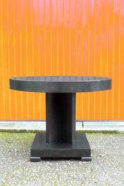 Art Deco Tisch schwarz rund