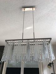Hängelampe Pendelleuchte Wohn Esszimmer Glaselemente