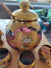 Murano Glas Bowle Service