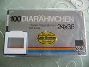 100 Diarahmen mit Glas