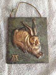 Bronzefigur-Bild Hase