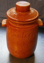 Rumtopf mit Deckel aus Keramik