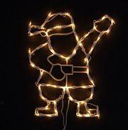 NEU Fenster-Silhouette Weihnachtsmann 35 Lichter