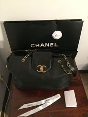 Chanel Weekender Tote Bag Black
