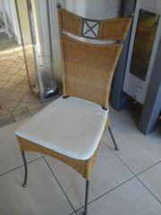 Stühle Rattan Metall