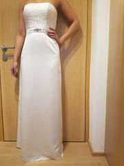 Hochzeitskleid Satin weiß