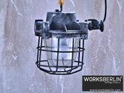Restaurierte Bunkerlampen Fabriklampen Industrielampen 50er