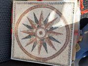 Mosaik Steine Fliesen Sonne