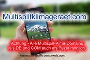 Top-Level com Domain - Multisplitklimageraet com -