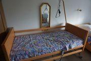 Pflegebett Krankenbett Matratze Galgen elektrisch