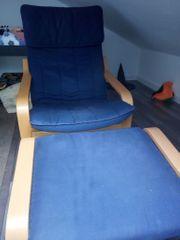 Ikea Schwingstuhl mit Hocker für