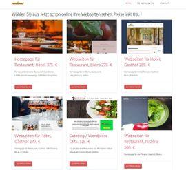 Gastronomie, Ladeneinrichtung - Homepage Webseiten Gastronomie Hotel Pizzeria