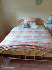 Französisches Messing-Bett 150x200 cm