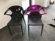 2 Stühle Ego-K Anthrazit- schwarz