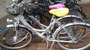 2 silberne Fahrräder ALU-REX
