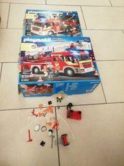 playmobil Feuerwehrautos und Pumpe