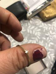 ring gold 333 mit Diamant