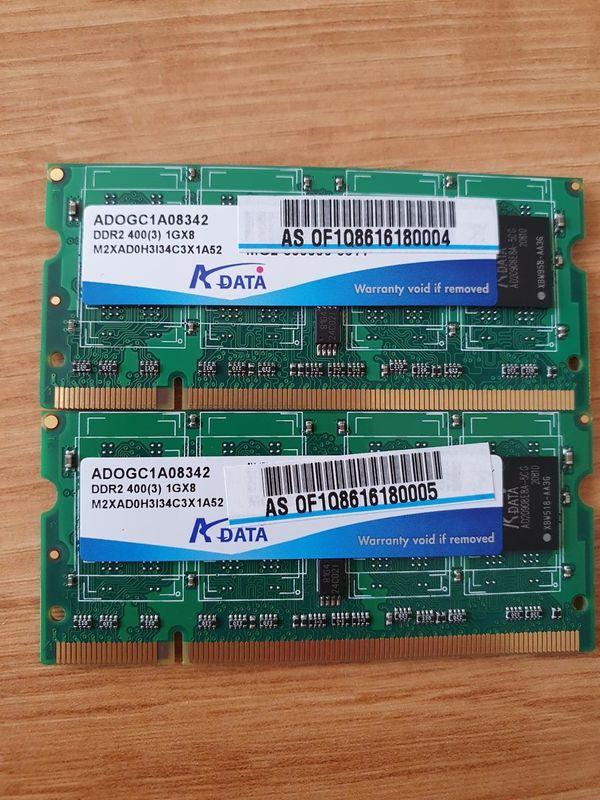 2 Speicherriegel ADOGC1A08342 DDR2 400