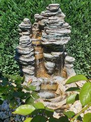 Gartenbrunnen Springbrunnen Wasserfall LED NP