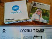 MINOLTA Chip Karte PORTRAIT CARD