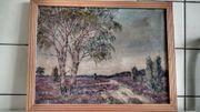 Gemälde Heide landschaft mahler W