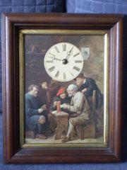 Bild - Uhr mit Holzrahmen