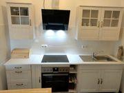 Küche Massivholz weiß mit E-Geräten