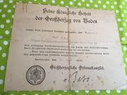 Dokument Urkunde Seine Königliche Hoheit