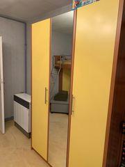Kleiderschrank gelb braun sehr guter