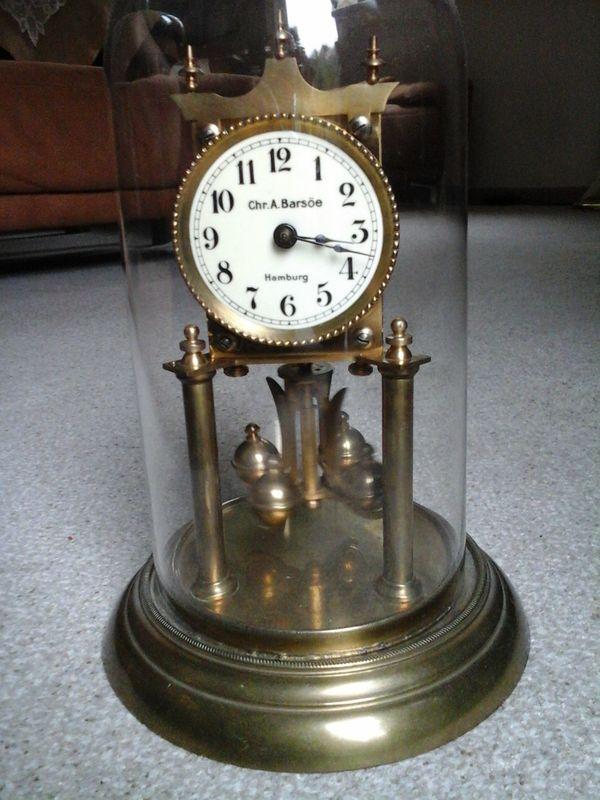 Alte Uhr Kaminspindeluhr mechanisch