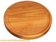 Holzteller rund Rüster Ulmenholz 22