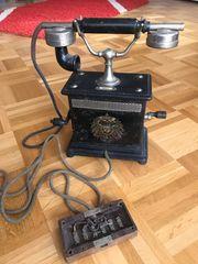 Antikes Kurbeltelefon 1905-1918 vintage altes
