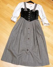 Kleid im Landhausstil Trachtenträgerrock Fabr