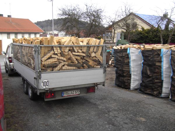 Brennholz Kaminholz 20 Sack reines