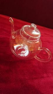 Teeservie Jena Glas mit Kanne