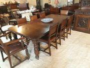 Antike geschnitzte Eiche Dining8 Table8
