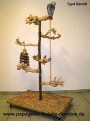 FREISITZ aus Holz Papageienfreisitz WURZELHOLZ