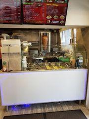 Pizza Burger Döner Laden übergebe