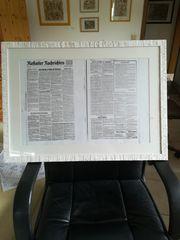 Alte BNN Zeitung 1945 eingerahmt