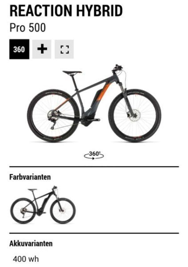 E-Bike Cube Reaction Hybrid Pro