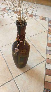 Vase Handarbeit aus Ton bemalt