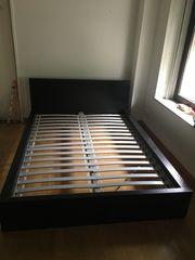 Malm Bett schwarz Ikea mit