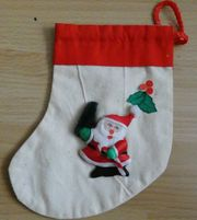 Nikolausstiefelchen Geschenkbeutelchen aus Stoff mit