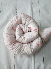 Bettschlange 140cm Stillkissen Handmade neu