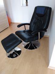 Relaxsessel mit Hocker Sessel Kunstleder