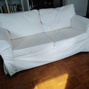 2 Sitzer Sofa weiß ohne