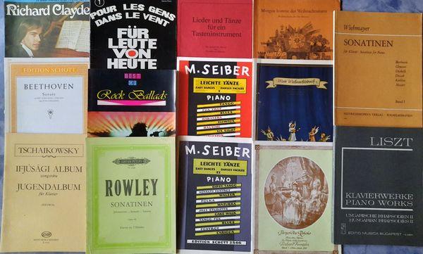 gebrauchte Klavier-Notenhefte - 14 Hefte diverser