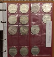 90 Silbermünzen in Album - Sammlung -
