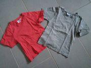 2 T-Shirts mit V-Ausschnitt Gr